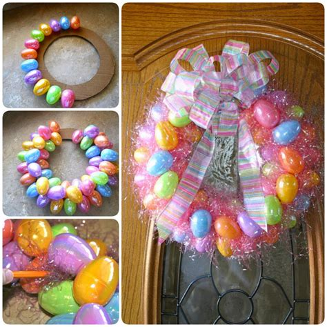 how to make an easter wreath with plastic eggs diy easter egg wreath