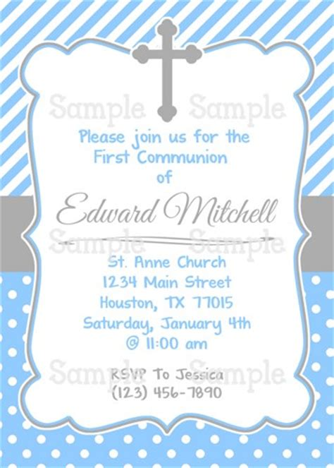 printable invitations first communion printable boy s first holy communion personalized party