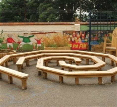 outdoor classroom benches wood benches mulches and maze on pinterest