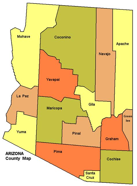 arizona county map file arizona county map png