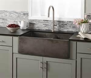 Farmhouse double bowl nativestone cement apron front or undermount