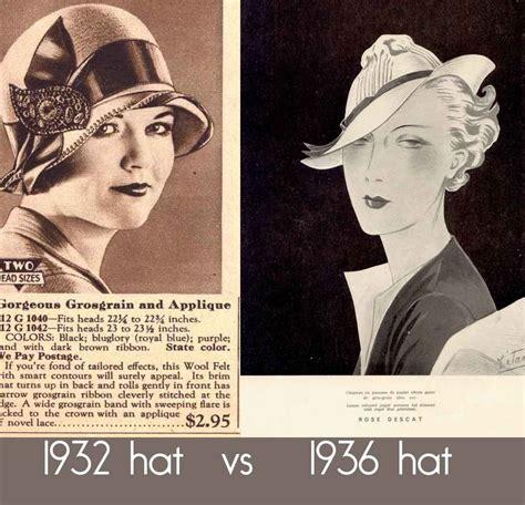 history of womens fashion 1900 to 1969 glamourdaze 1930s women hat fashion changes 1936 fashion pinterest