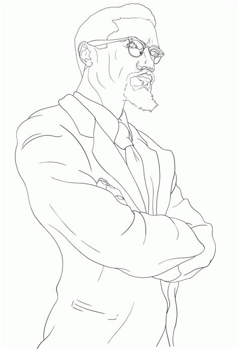 Coloring Page Of Malcolm X by Malcolm X Coloring Page Coloring Home
