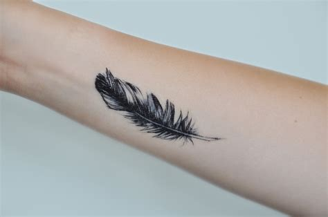small tattoo feather feather temporary small temporary