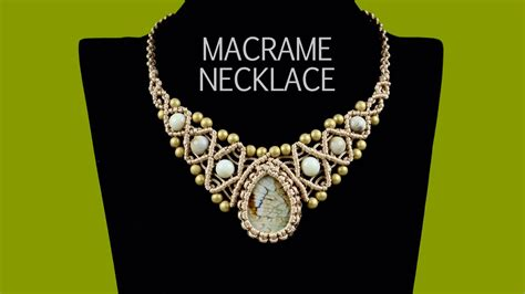 how to jewelry macrame necklace with and tutorial