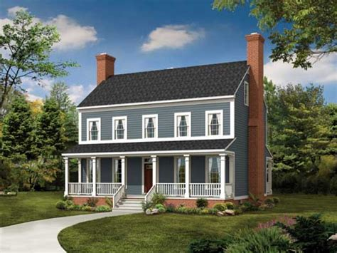 Farmhouse Style House Plans 2 Story Colonial Front Makeover 2 Story Colonial Style House Plans Colonial Farmhouse Plans
