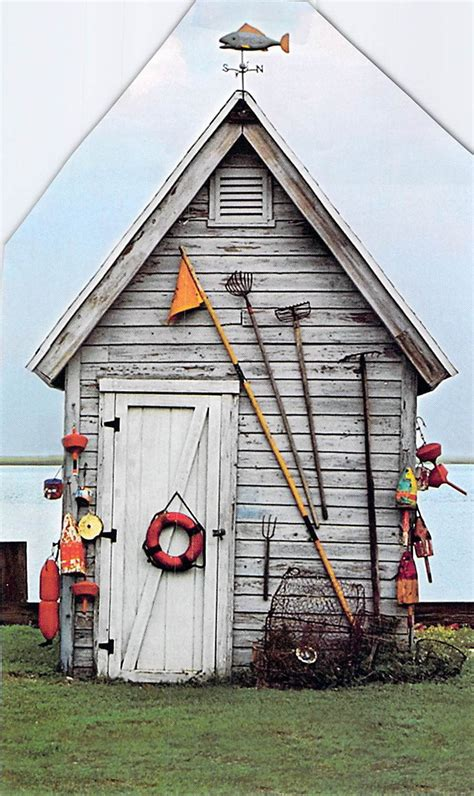 pretty  shed boat shed fishing shack nautical