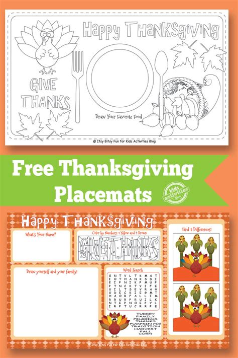 free printable christmas table games thanksgiving placemat free kids printable fullact