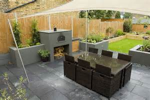 wimbledon family garden design with formal dining terrace