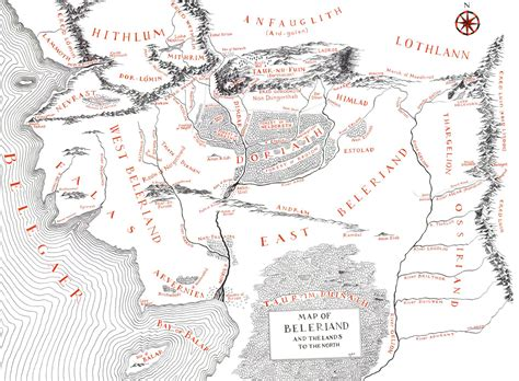 best map of middle earth tolkiens legendarium did maps in middle earth west