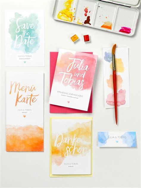 Hochzeitseinladung Wasserfarbe by Hochzeitskartendesign Pastel Aquarelle Hochzeitseinladung