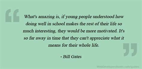 bill gates quote     school