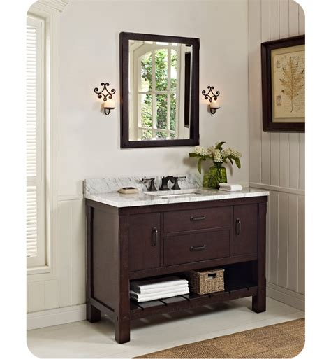 open bathroom vanity fairmont designs 1506 vh48 napa 48 quot open shelf modern