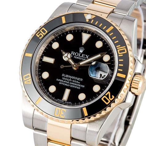 Rolex Submariner Two Tone   Oyster Perpetual Watches