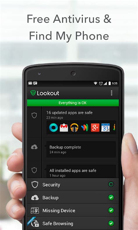 free antivirus for android mobile lookout security antivirus android apps on play