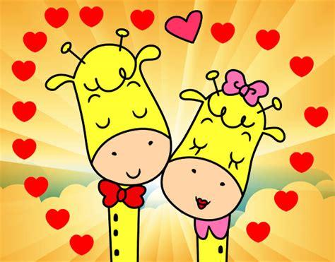 imagenes jirafas abrazadas 80 ideas dibujos de jirafas enamoradas on