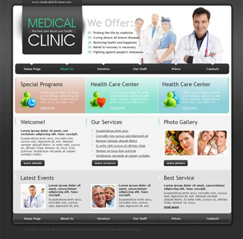 templates for medical website medical clinic html template id 300110441 from simavera com