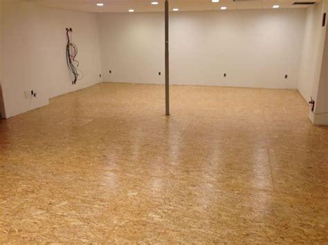 Sealing Plywood Floors by Using Osb Flooring Dimple Board Basement Slab