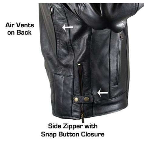 cruiser motorcycle jackets classic men s cruiser vented premium motorcycle jackets