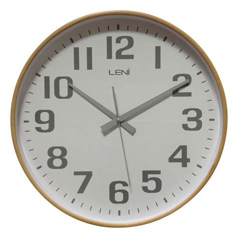 wooden wall clock buy leni white wooden wall clock large wallet online