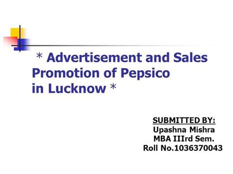 Mba Promotion Animation by Sales Promotion Of Pepsico Authorstream