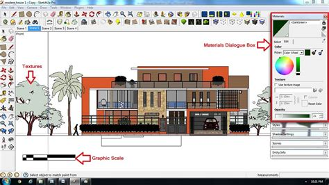 sketchup layout graphic scale architectural elevation digital watercolor effect for