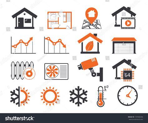 smart house real estate real estate icons set 06 smart house stock vector illustration 147006350 shutterstock