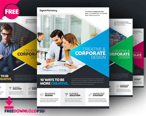 Mba Advertising Costs by Free Business Flyer Template Freedownloadpsd