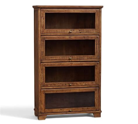 hatton reclaimed wood bookcase pottery barn
