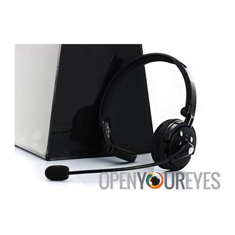 Headset Bluetooth Dual On bluetooth headset with boom mic 18 hours talk time dual phone connection cell phone accessories