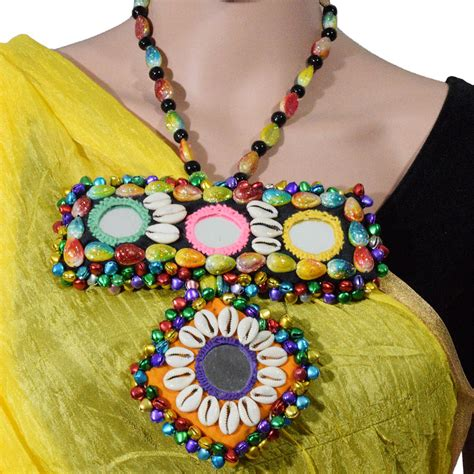 Handmade Seashell Jewelry - handmade seashell designer necklace for navratri just rs