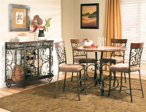 buy thompson casual dining room set by steve silver from awesome buy thompson round counter height dining table by