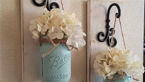 fall wall sconce individual mason jar sconce flower barn wood mason jar wall sconce diy when time allows