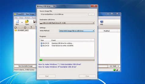 membuat usb boot di linux membuat bootable usb os windows linux dengan power iso