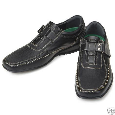 top band black casual dress loafers mens shoes us 10 5 ebay