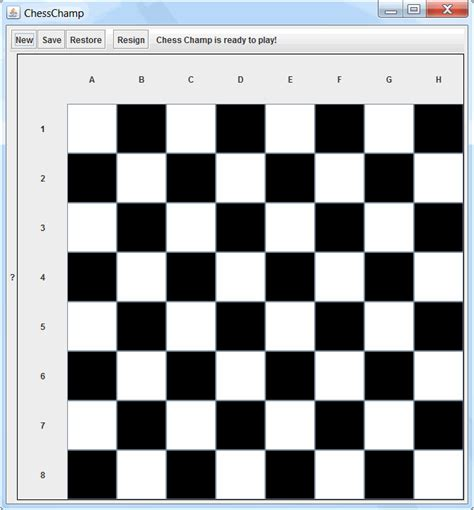java create a chess board with jpanel stack overflow