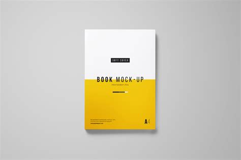 Book Book by Photoshop A4 Book Mockup