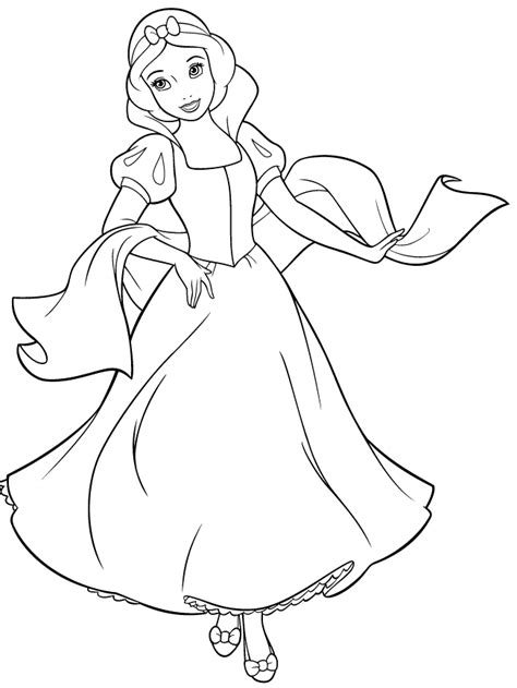 disney princess snow white coloring page cartoons