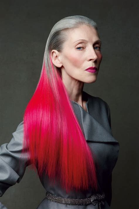 ombre for older temporary electric ombre hair dye aging gracefully pink