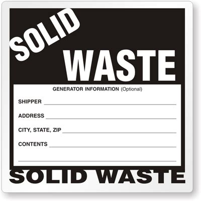 Hazardous Waste Labels Free Hazardous Waste Label Template
