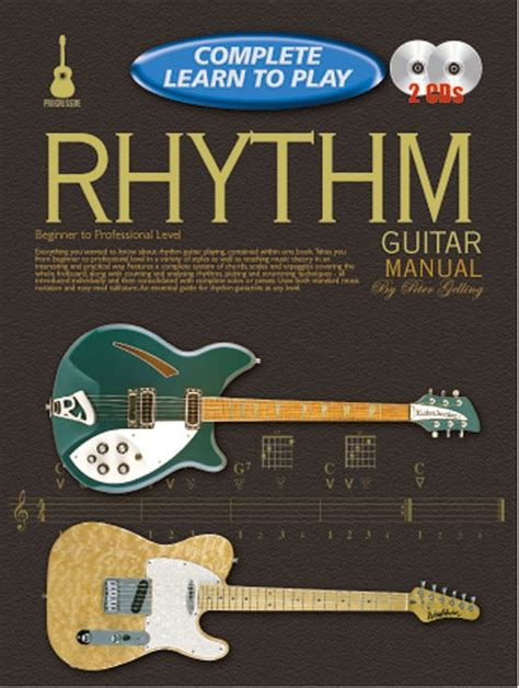 learn guitar yourself progressive complete learn to play rhythm guitar manual