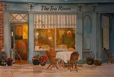 The Tea Room by The Tea Room Painting By Heryet