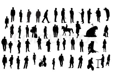Friseur Einkauf Com Vector Silhouetten Verschiedener Menschen Unter Den Wei 223 En