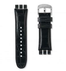 Swatch Ayos440 23mm by Correa Piel Negra Reloj Swatch Your Turn Black Ayos440 23mm