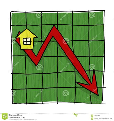 when will house prices go down house prices going down illustrated graph royalty free stock photos image 27543448
