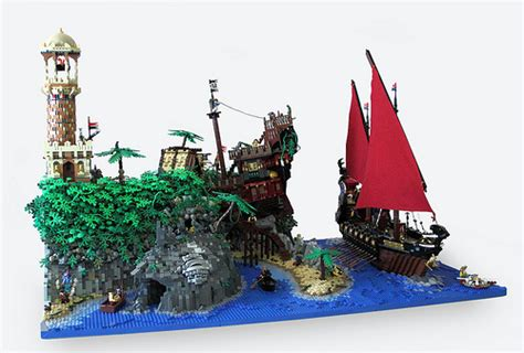 Lego Ship Castle turtle island finished layout at last damn but that wa flickr