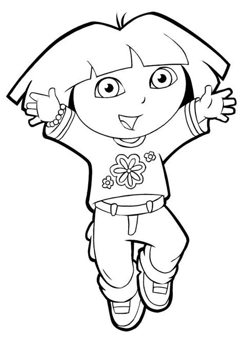 dora star coloring pages dora coloring pages jumping up coloringstar