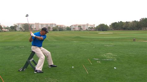 Chair Drill To Make A Relaxed Driver Swing Golf Channel