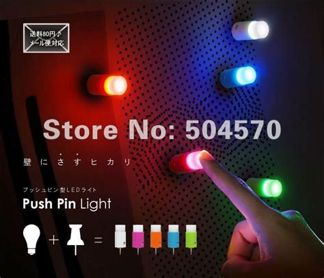 One Touch Light 5pcs 5pcs pack led push pin one touch light mini l pub home decors glow in the