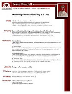 Curriculum Vitae Writers by Example Realtor Resume Free Sample
